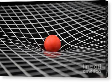 Gravity Simulation Canvas Print by Ted Kinsman