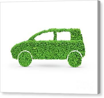 Green Car Canvas Print by Oleksiy Maksymenko