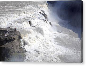 Canvas Print featuring the photograph Gullfoss by David Harding