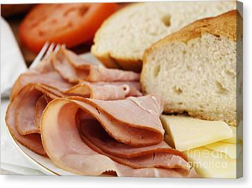 Ham Lunch Spread Canvas Print by Blink Images