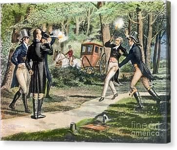 Hamilton-burr Duel, 1804 Canvas Print by Granger