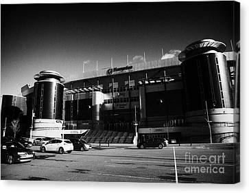 Hampden Park Scottish National Stadium Glasgow Scotland Uk Canvas Print by Joe Fox