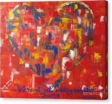 Heart Canvas Print by Judy Morris