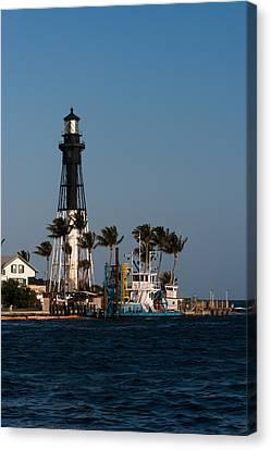 Hillsboro Inlet Lighthouse Canvas Print by Ed Gleichman