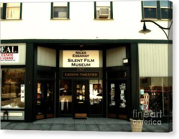 Historic Niles District In California Near Fremont . Niles Essanay Silent Film Museum.edison Theater Canvas Print by Wingsdomain Art and Photography