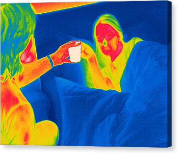 Hot Nurses Canvas Print - Hot Drink, Thermogram by Tony Mcconnell