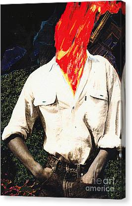 Combustion Canvas Print - Hot Head by Bill Thomson