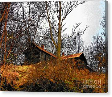 House On The Hill Canvas Print by Joyce Kimble Smith