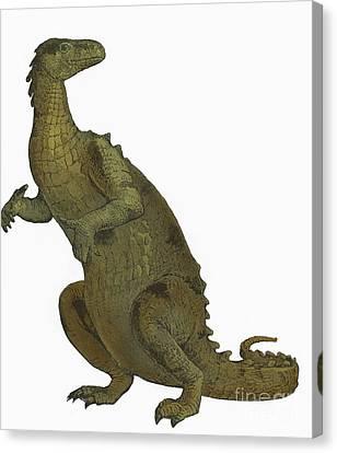 Iguanodon, Mesozoic Dinosaur Canvas Print by Science Source