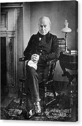 John Quincy Adams, 6th American Canvas Print by Photo Researchers