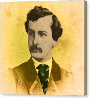 John Wilkes Booth, American Assassin Canvas Print by Photo Researchers