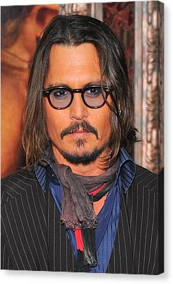 Johnny Depp At Arrivals For The Tourist Canvas Print by Everett
