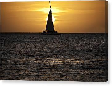 Key West Sunset Canvas Print by Paul Plaine