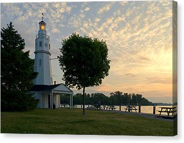 Kimberly Point Lighthouse Canvas Print by Joel Witmeyer