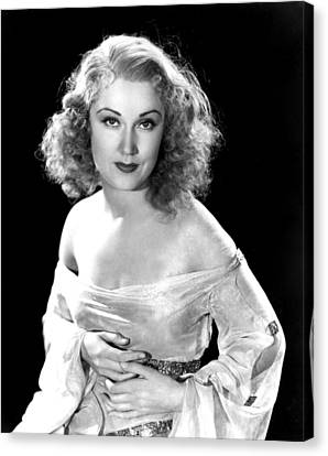 Bare Shoulder Canvas Print - King Kong, Fay Wray, 1933 by Everett