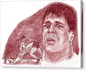 Kurt Angle Canvas Print by Chris  DelVecchio
