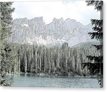 Lake Carezza Dolomites Italy  Canvas Print by Joseph Hendrix