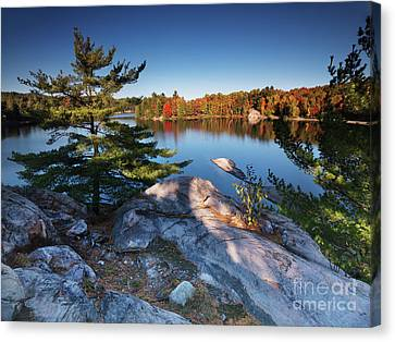 Lake George At Killarney Provincial Park In Fall Canvas Print by Oleksiy Maksymenko