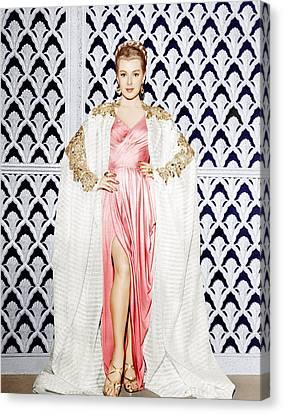 Lana Turner, Ca. 1940s Canvas Print