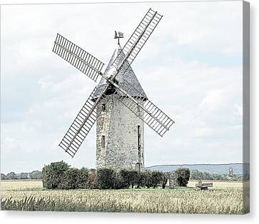Largny Mill Largny Sur Automne France Canvas Print by Joseph Hendrix