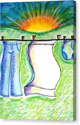 Laundry Day Canvas Print by Susan George