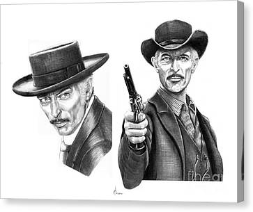 Lee Van Cleef Canvas Print by Murphy Elliott