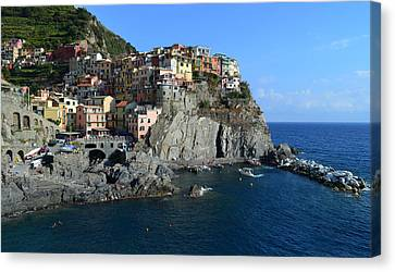 Manarola Canvas Print by Barbara Walsh