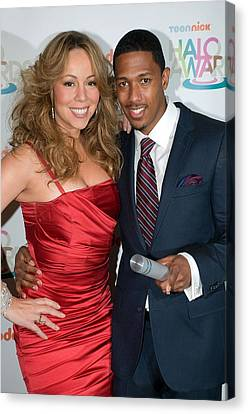 Mariah Carey, Nick Cannon At A Public Canvas Print by Everett