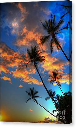 Maui Sunset Canvas Print by Kelly Wade