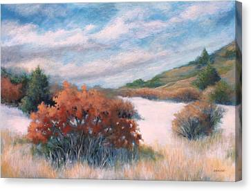 Meandering Near Prescott Canvas Print by Peggy Wrobleski