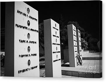 Larnaca Canvas Print - Memorial To Those In The Eoka Anti British Uprising And 1974 Turkish Conflict Larnaca Cyprus by Joe Fox