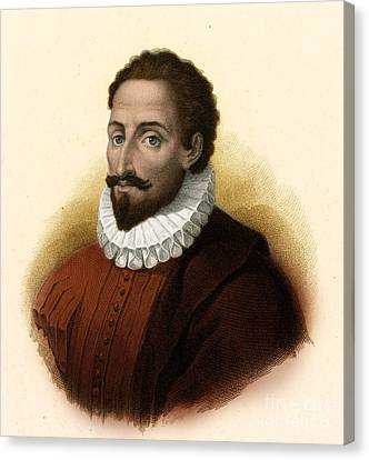 Miguel De Cervantes, Spanish Author Canvas Print