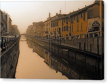 Milan Naviglio Grande Canvas Print by Joana Kruse
