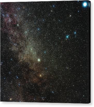 Milky Way In Cygnus Canvas Print by Eckhard Slawik