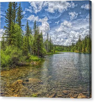 Mirror Lake Canvas Print by Stephen Campbell