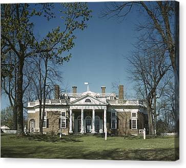 Collier Canvas Print - Monticello Home Of Thomas Jefferson by Everett