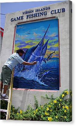 Mural In St Thomas Canvas Print