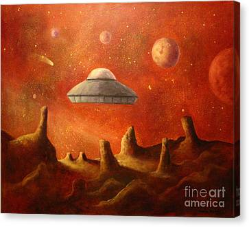Mysterious Planet Canvas Print by Randy Burns