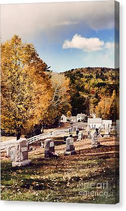 New England Cemetery Canvas Print by HD Connelly