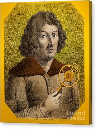 Nicolaus Copernicus, Polish Astronomer Canvas Print by Omikron