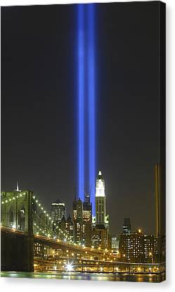 Nyc Tribute Lights Canvas Print