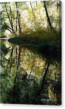Canvas Print featuring the photograph Oak Creek Reflection by Tam Ryan