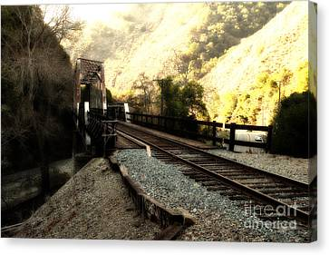 Hayward Canvas Print - Old Railroad Bridge At Near Historic Niles District In California . 7d10756 by Wingsdomain Art and Photography