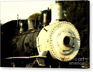 Old Steam Locomotive Engine 1258 . 7d10482 Canvas Print by Wingsdomain Art and Photography