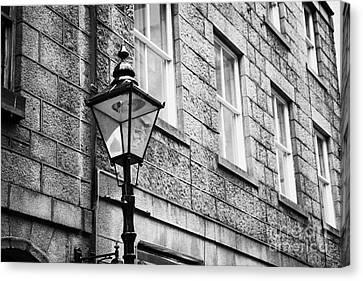 Old Sugg Gas Street Lights Converted To Run On Electric Lighting Aberdeen Scotland Uk Canvas Print by Joe Fox