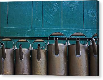 Old Watering Cans Canvas Print by Joana Kruse