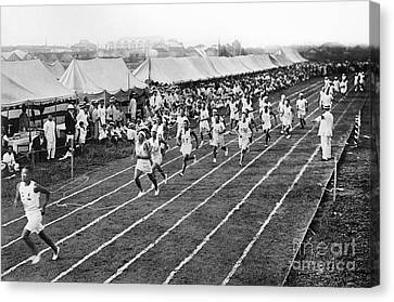 Footrace Canvas Print - Olympic Games, 1912 by Granger