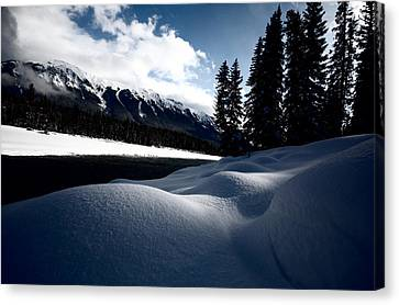 Open Water In Winter Canvas Print by Mark Duffy