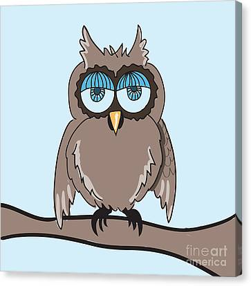 owl Canvas Print by HD Connelly