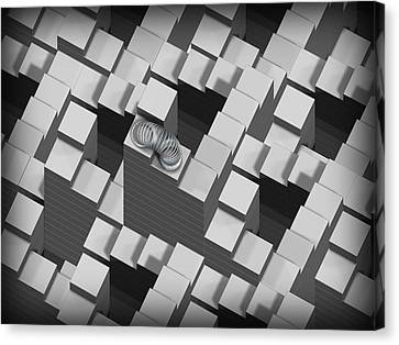 Penrose Stairs, Artwork Canvas Print by Claus Lunau